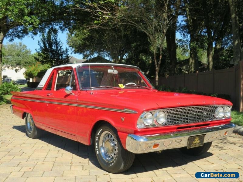 1963 Ford Fairlane Ranchero Fully Restored Show Car 289 V8 Auto for Sale